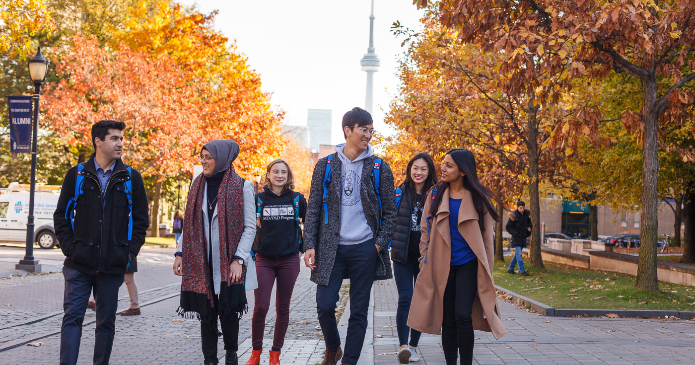 U of T students walking